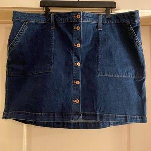 J Crew Denim Mini Skirt Burlton Down Size 22 NWT